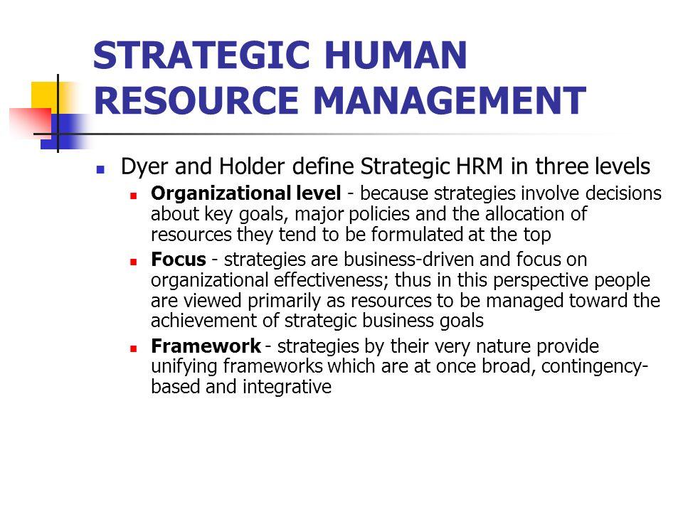 Strategic Human Management And Development Unit I Human Resource