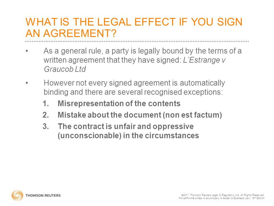 Chapter 8 Introduction To The Law Of Contracts 2011 Thomson