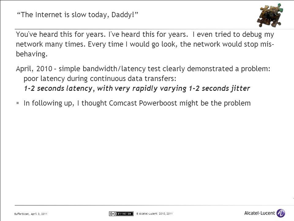 Bufferbloat Dark Buffers in the Internet Jim Gettys Bell