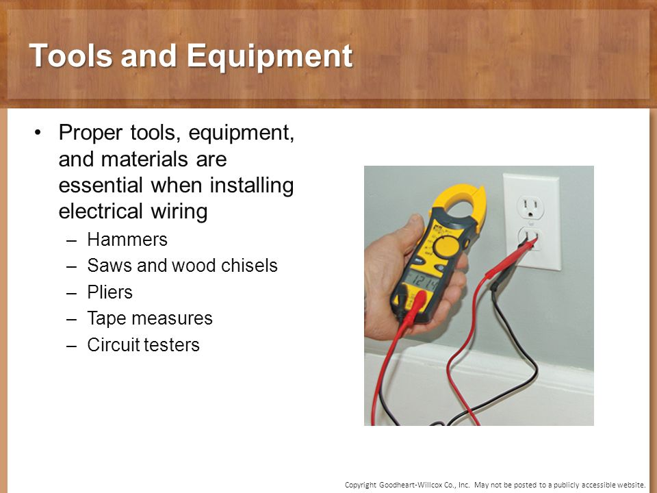 Chapter 30 Electrical Wiring Copyright Goodheart-Willcox Co., Inc ...