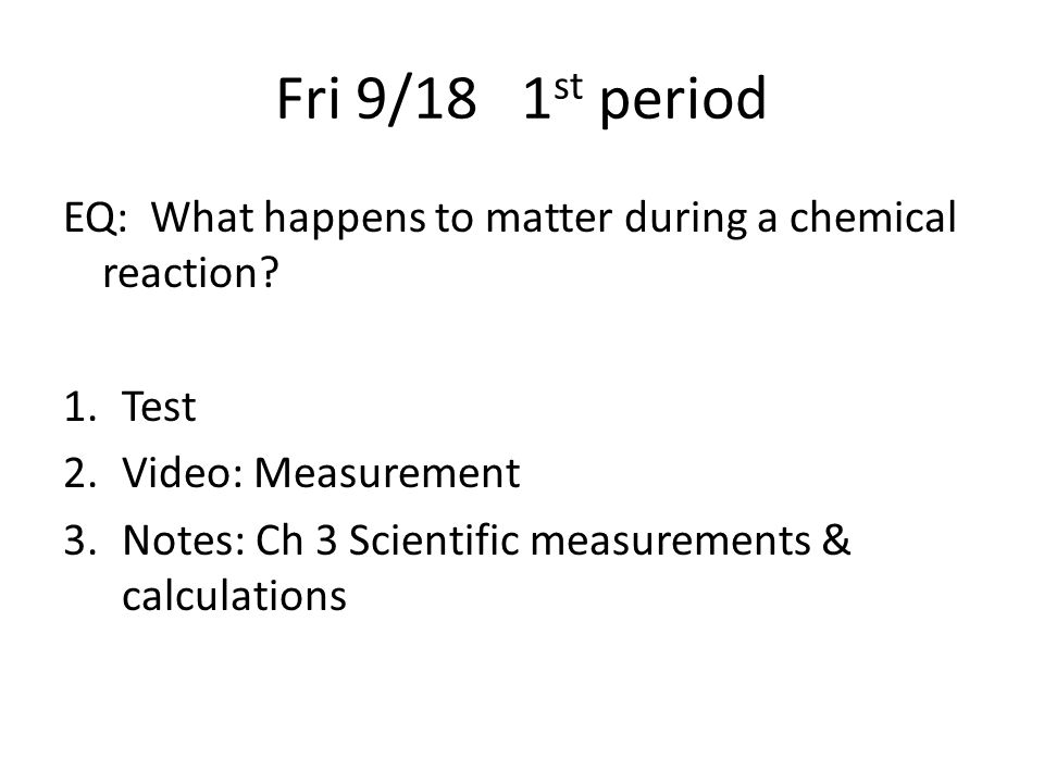 Chemistry classes Monday Sept  14, 2015 Mrs  Schultz Room 915 SEHS