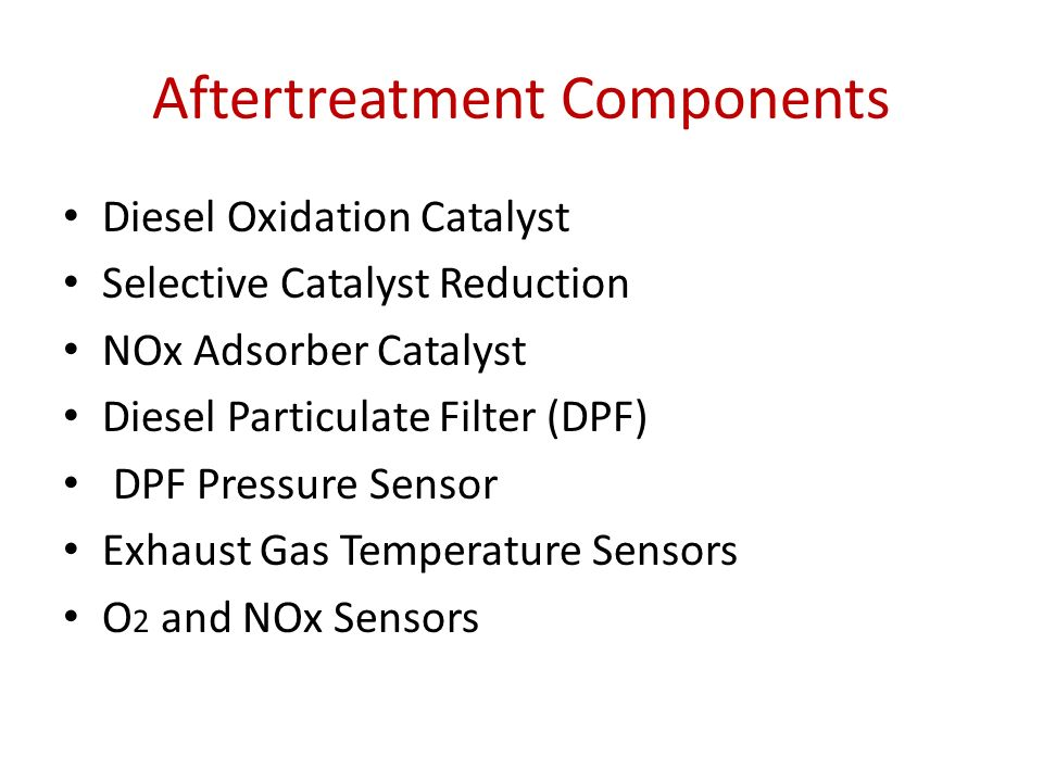 Diesel Exhaust Aftertreatment Systems for Gasoline Engine