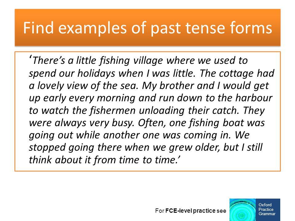 find past tense
