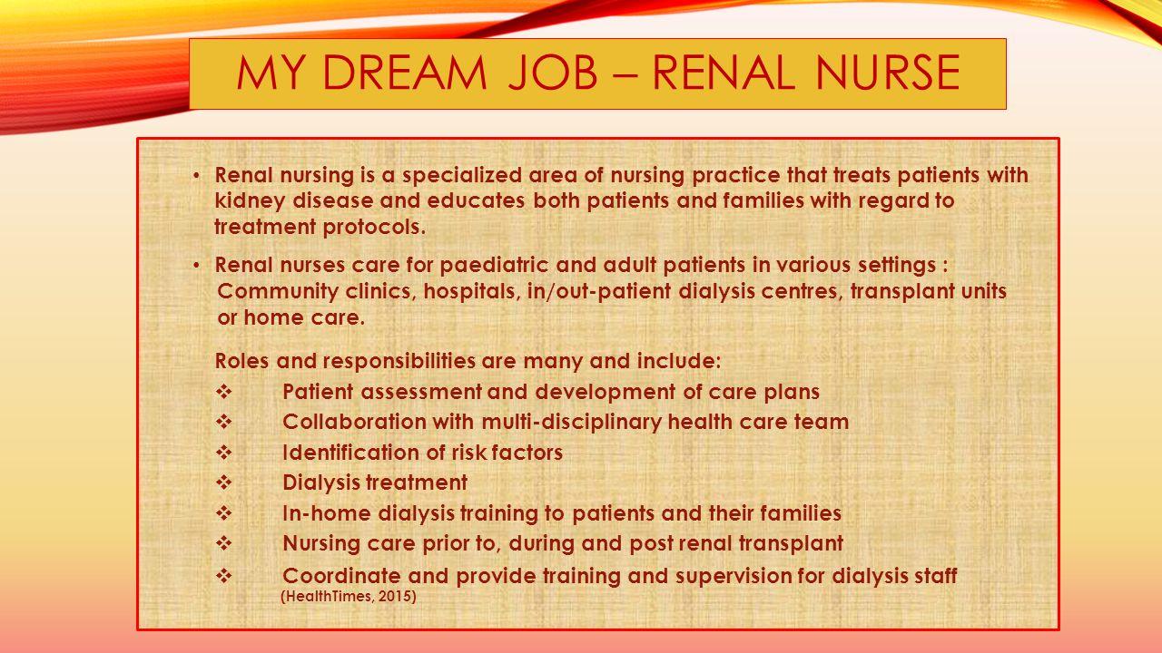 my dream job nurse essay