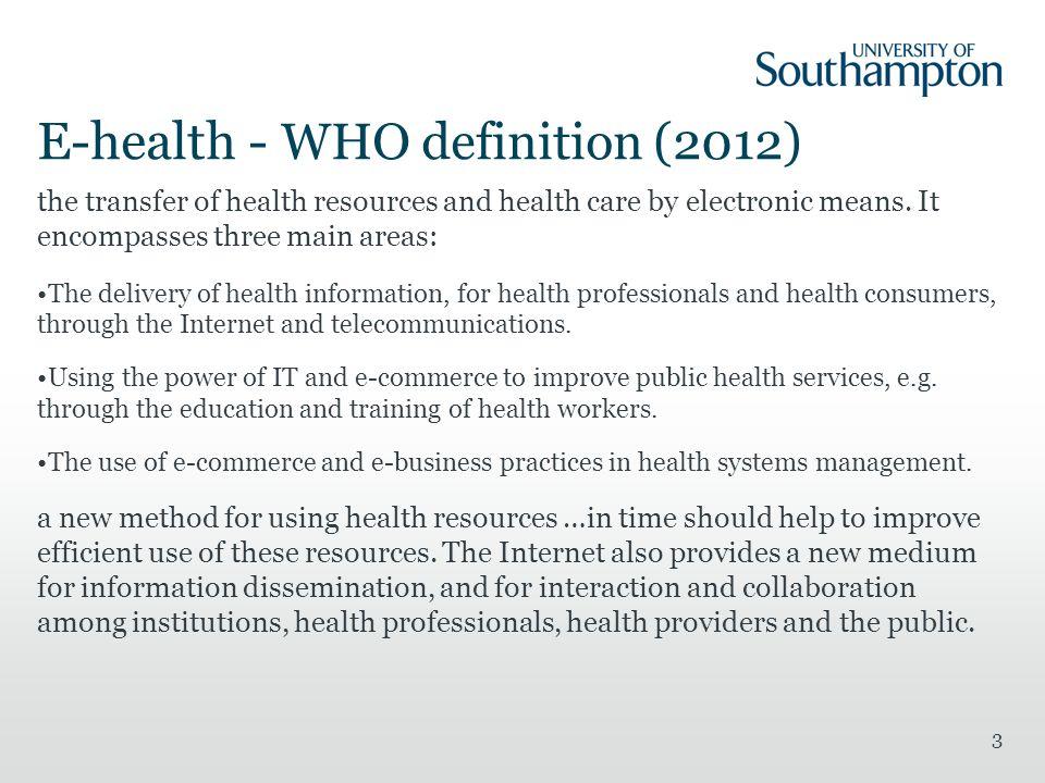 Digital Health I WEBS6202: Further Web Science Catherine
