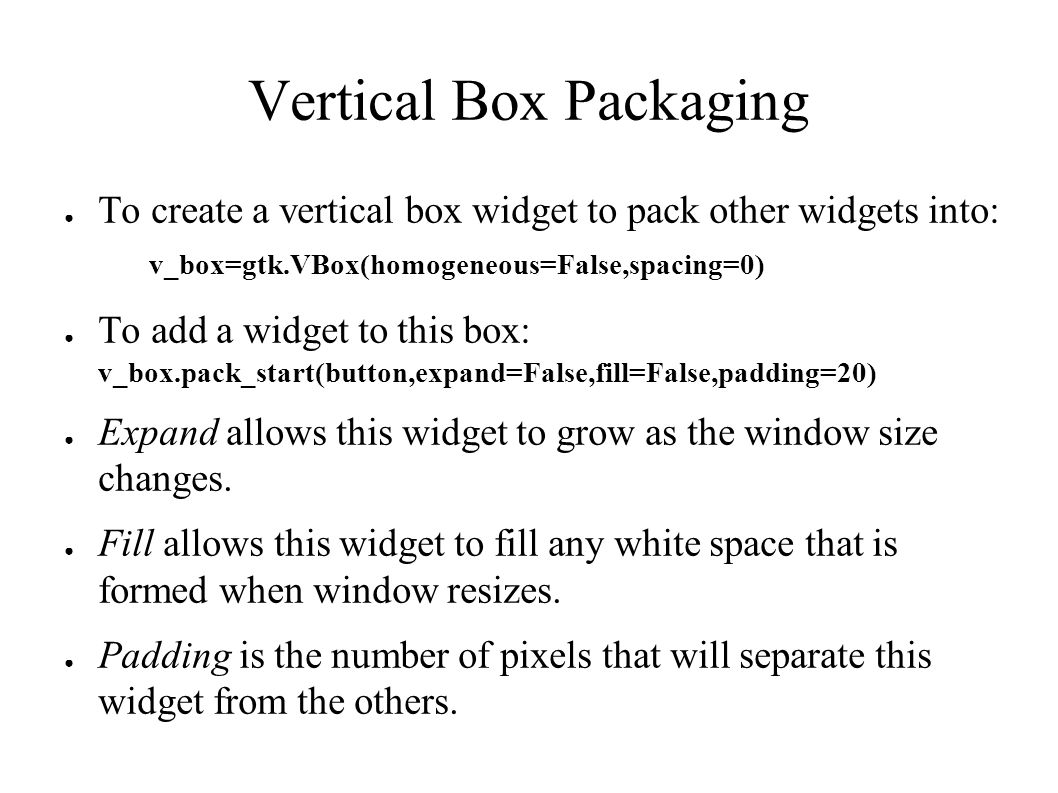 PyGTK 2 0 Quick Start Guide By Jeremy Bongio  Table of Contents