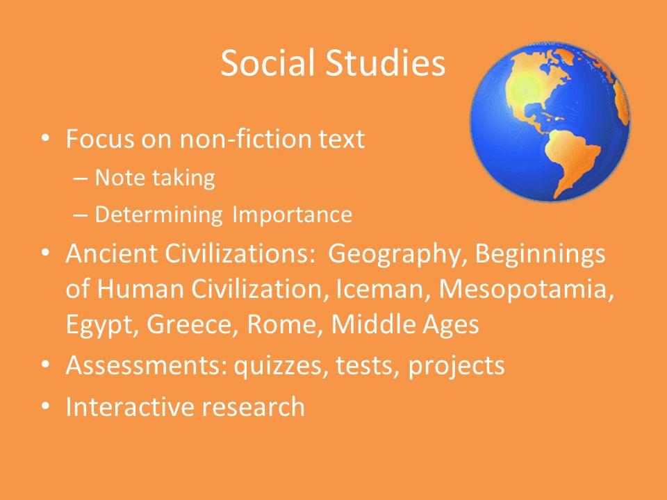 6 Th Grade Parent Night Language Arts Social Studies Ppt