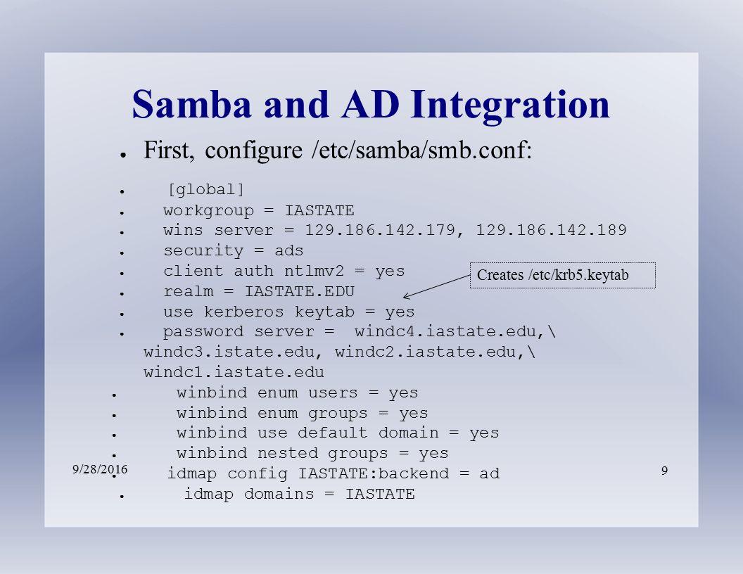 Linux/Windows Integration John Dickerson – ECSS ○ Domain
