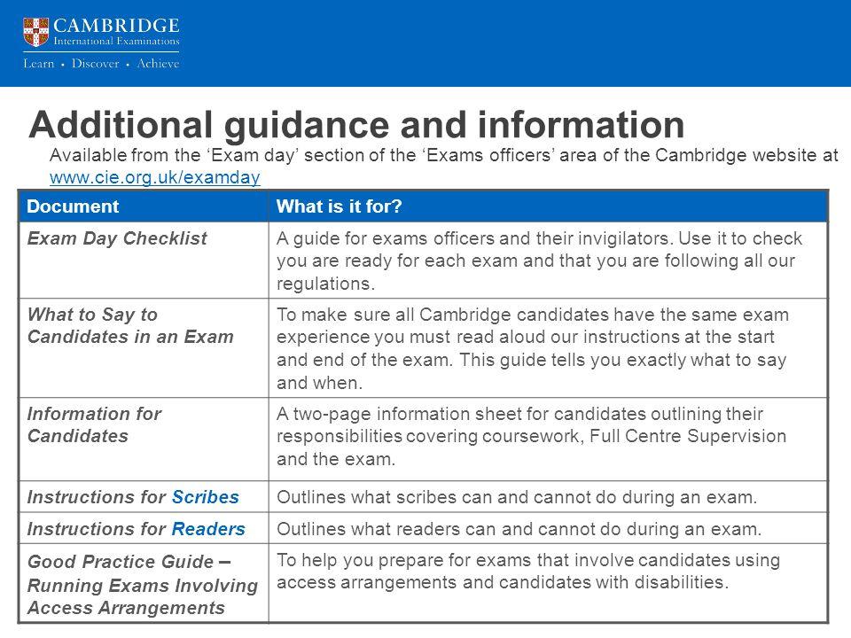 Introduction to invigilating Cambridge exams ppt download
