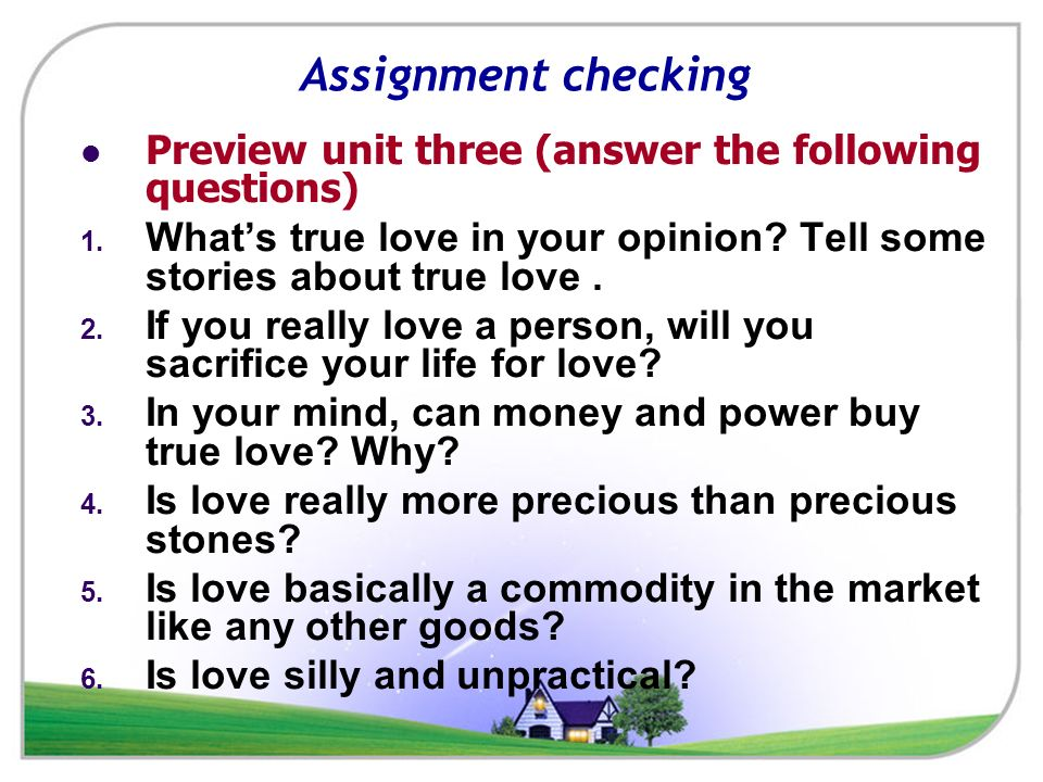 what is love question and answer