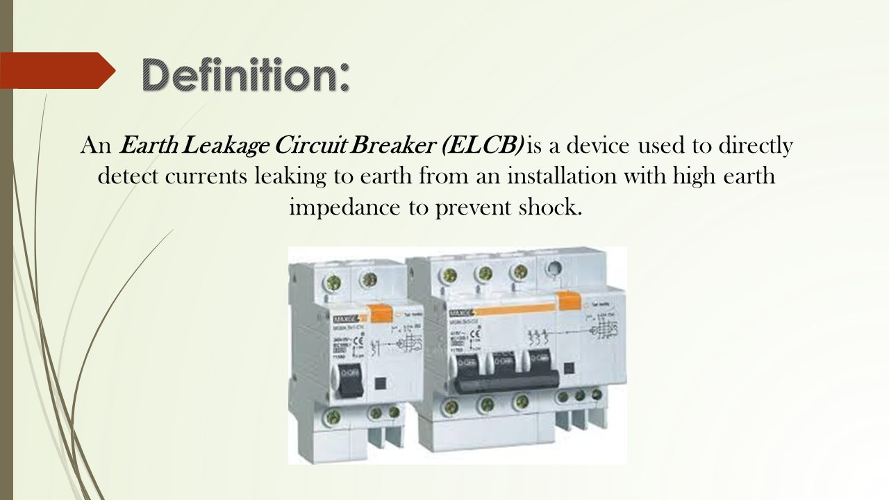 By 47mbjvarma 48mallikarjuna Abhilash 49maraka Kulateja 50 Earth Leakage Circuit Breaker Wiring Diagram 2 An Elcb Is A Device Used To Directly Detect Currents Leaking From Installation With High Impedance