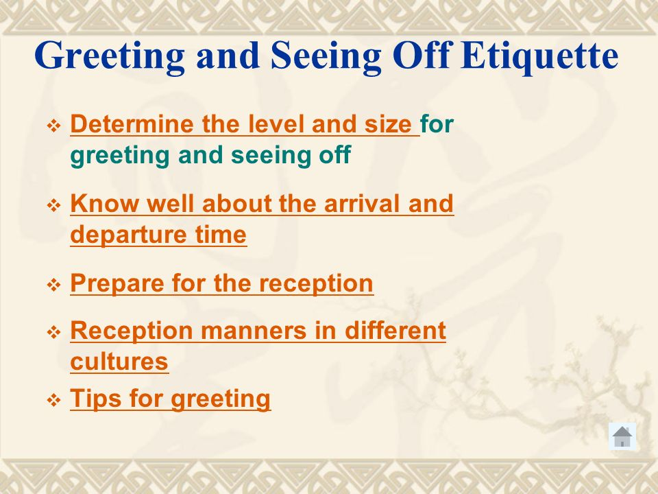 Etiquette in business negotiation contents greeting and seeing etiquette in business negotiation 3 contents greeting m4hsunfo