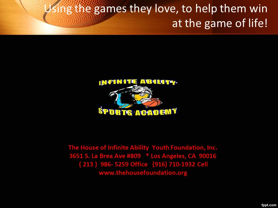 The House of Infinite Ability Youth Foundation Inc  (THIA