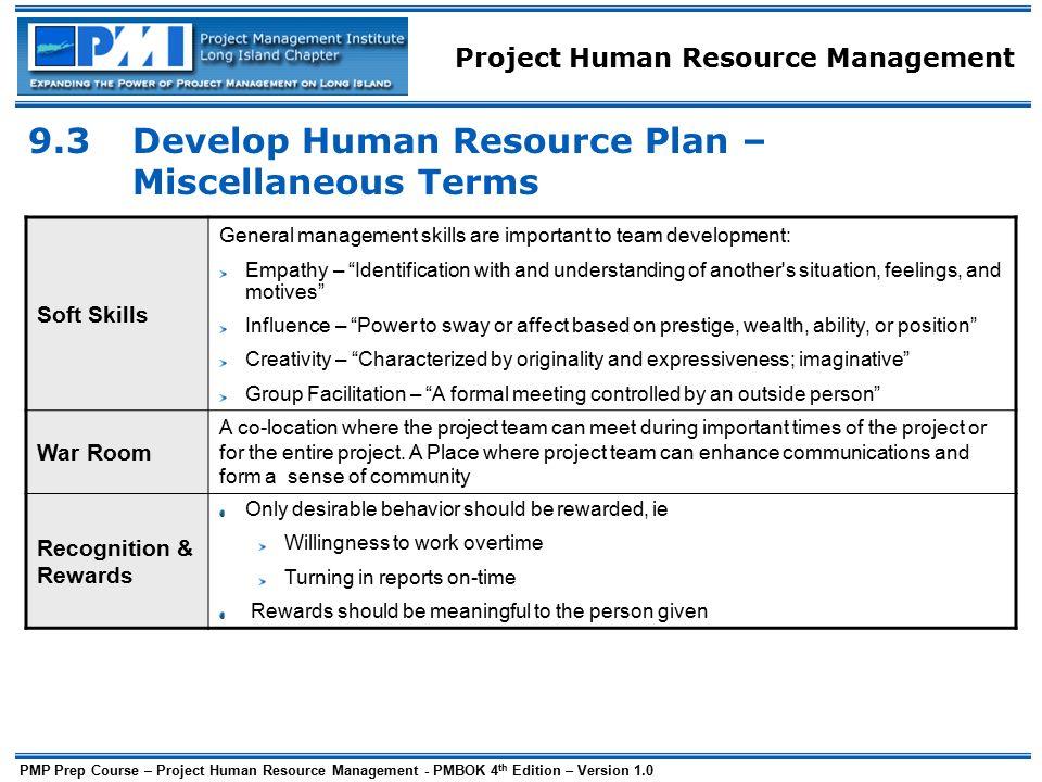 develop human resource plan