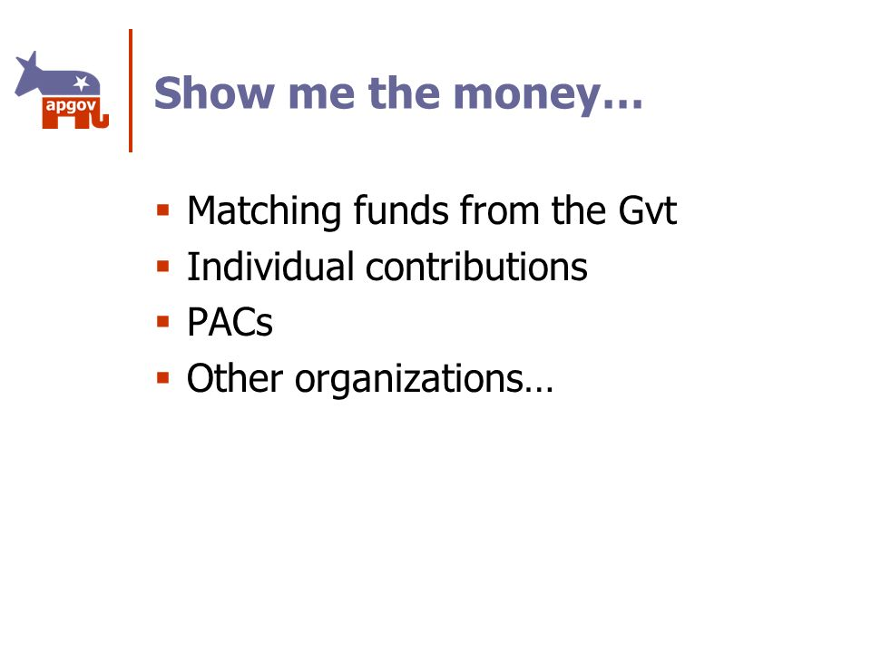 matching funds ap gov