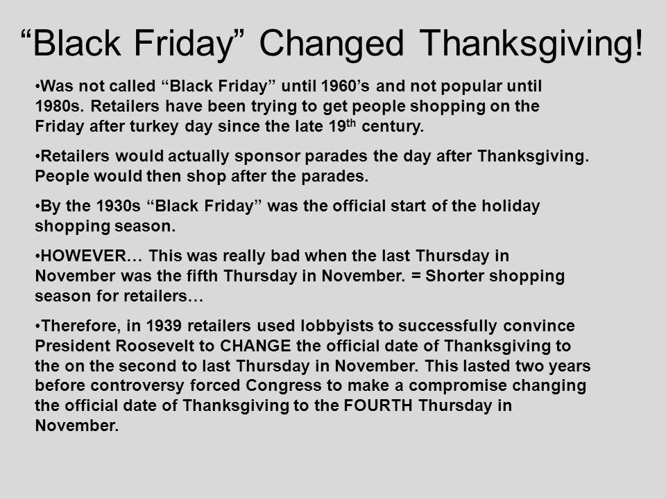 "BLACK FRIDAY  Black Friday History ""Black Friday"" Changed"