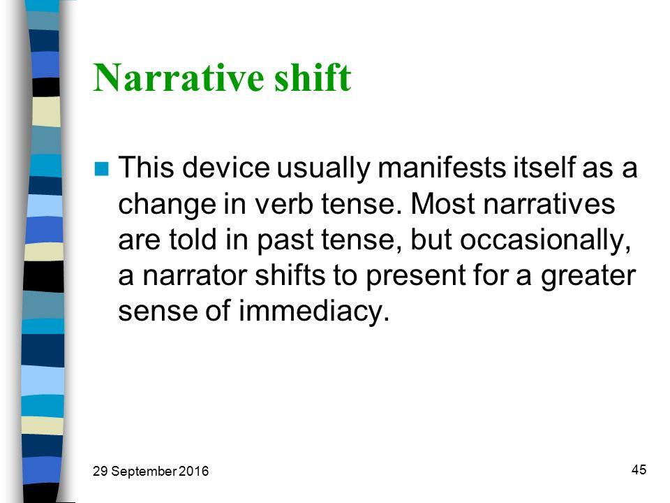narrative shift