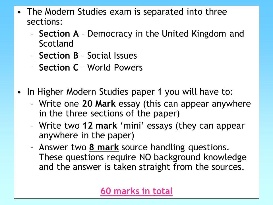 modern essay writing
