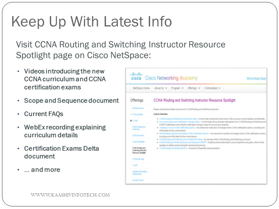 Ccna Routing And Switching Overview Wkaashivinfotech Ppt