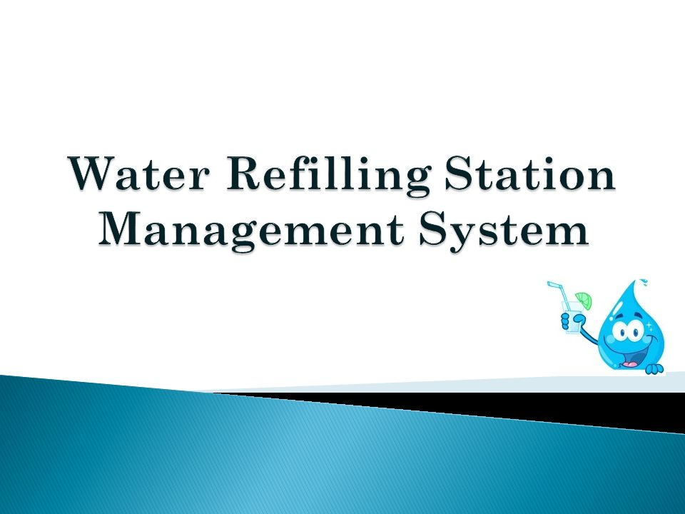 water refilling station management system