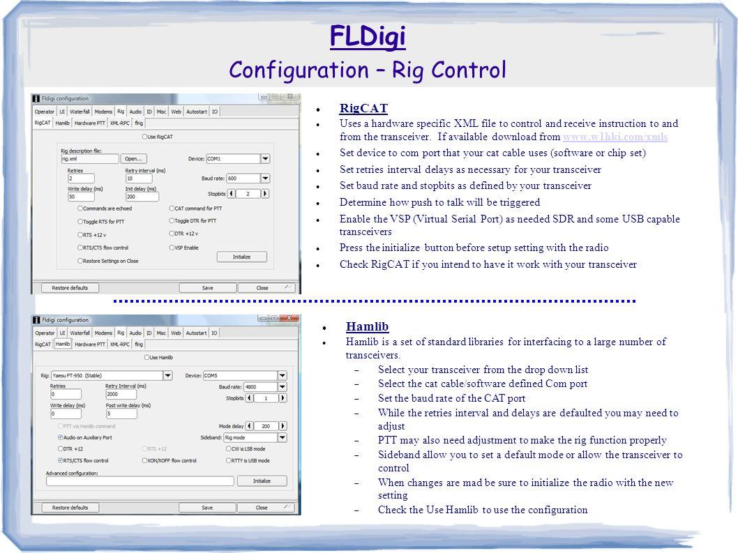 FLDigi  Fldigi is a computer program intended for Amateur Radio
