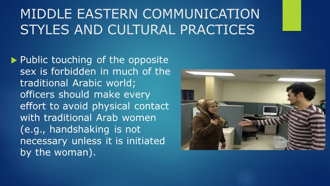 middle eastern communication styles