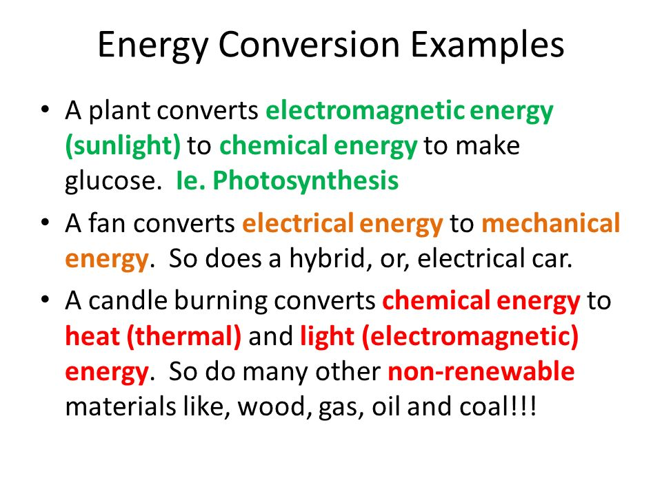 Energy Conversion And Conservation The Law The Law Of Conservation