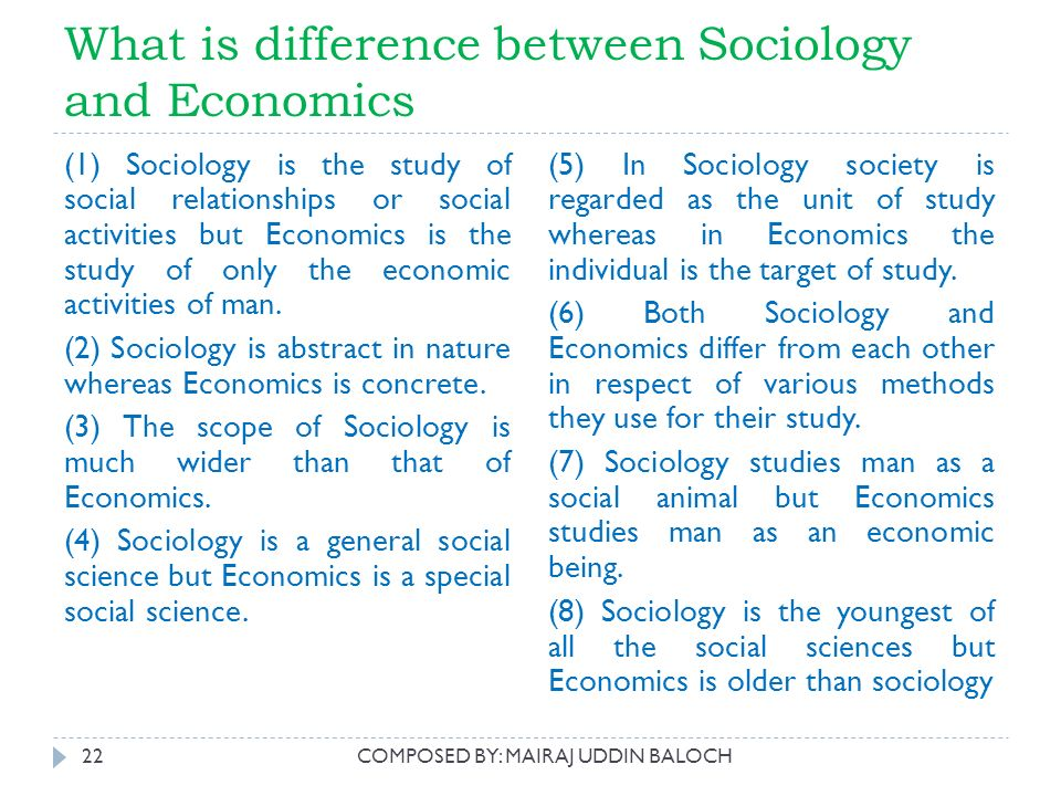 difference between sociology and social science