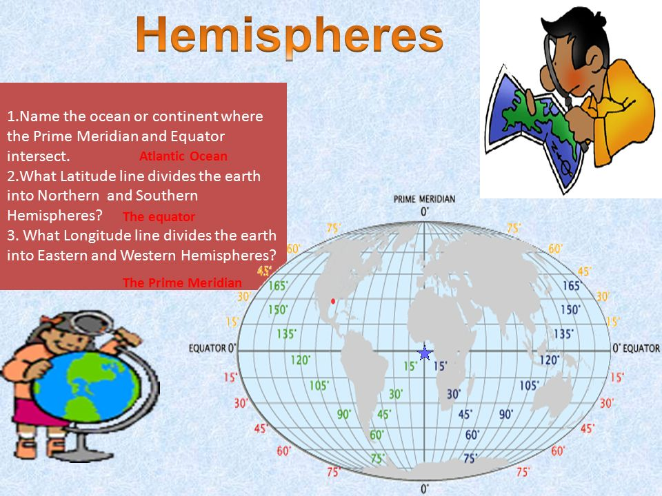 Name The Ocean Or Continent Where Prime Meridian And Equator Intersect