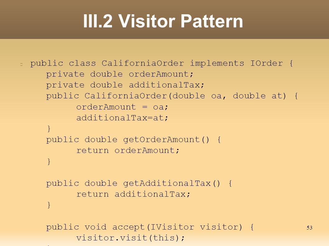 Visitor Pattern C Awesome Inspiration