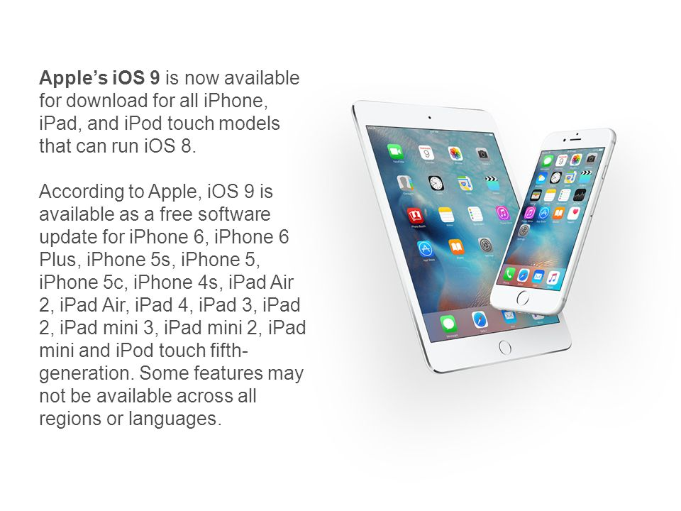 IOS 9 - What's new in iOS  Apple's iOS 9 is now available for