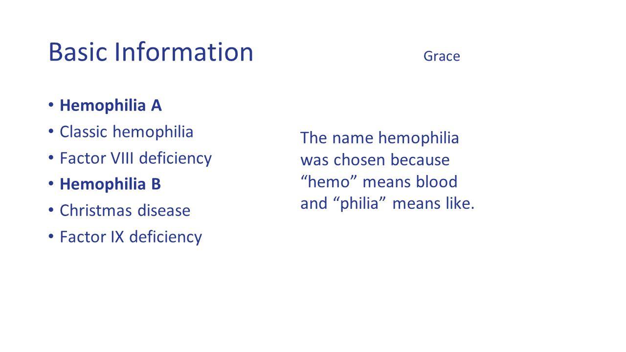 hemophilia by: rebecca peterson, owen comer, quaevon anderson, and