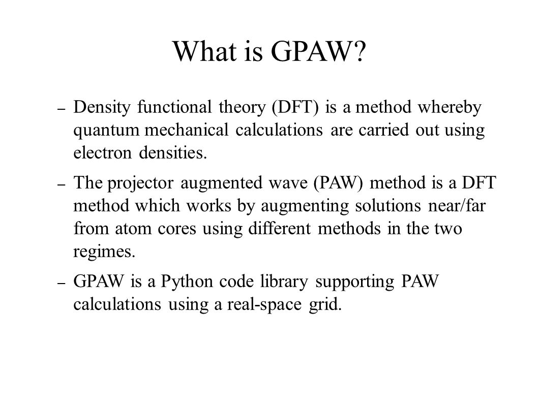 GPAW Setup Optimization Center for Atomic-scale Materials