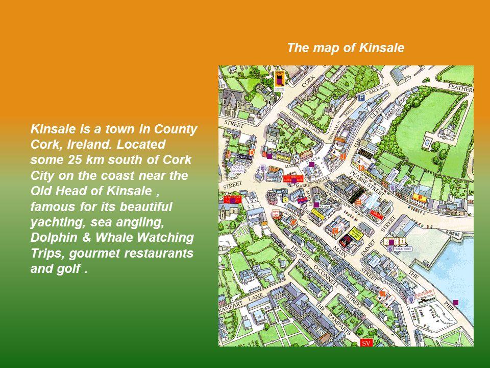 The Map Of Kinsale Kinsale Is A Town In County Cork Ireland