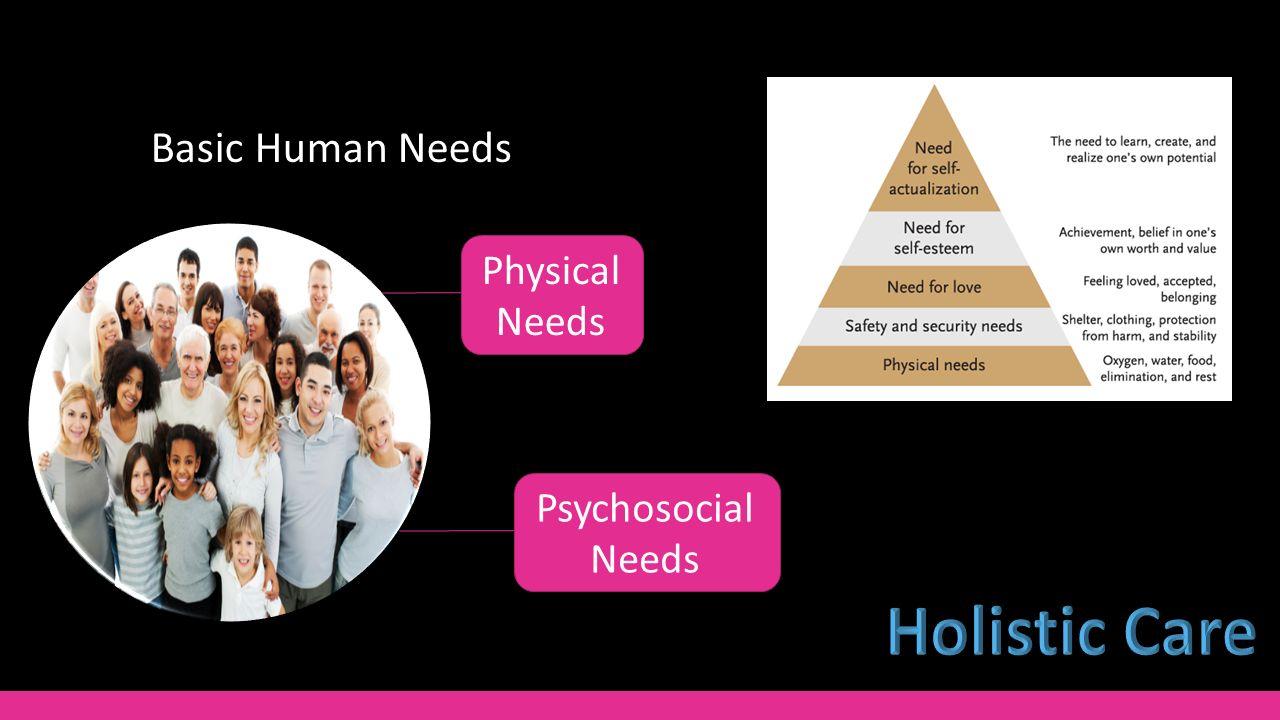 3 Basic Human Needs Psychosocial Needs Physical Needs