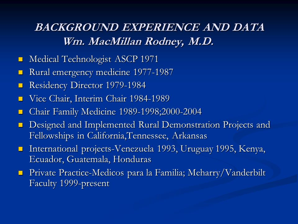 Data from the Memphis Project, Which Procedures (Services