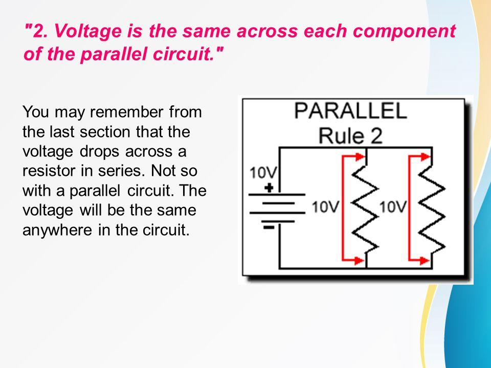 circuit calculations series circuits basic rules a series circuit