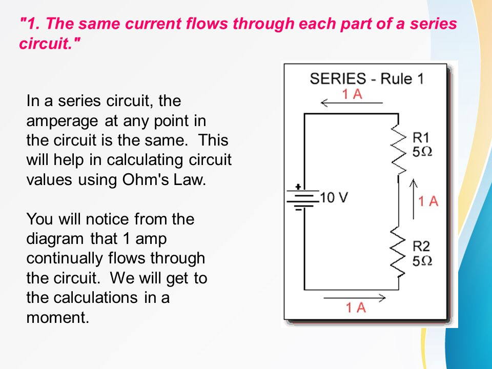 circuit calculations series circuits basic rules a series circuit rh slideplayer com basic series circuit definition basic series circuit diagram