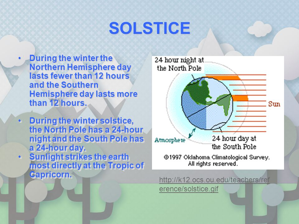 SolsticesSolstices Solstices occur twice a year, when the tilt of the Earth s axis is oriented directly towards or away from the Sun, causing the Sun to appear to reach its northernmost and southernmost extremes.Solstices occur twice a year, when the tilt of the Earth s axis is oriented directly towards or away from the Sun, causing the Sun to appear to reach its northernmost and southernmost extremes.
