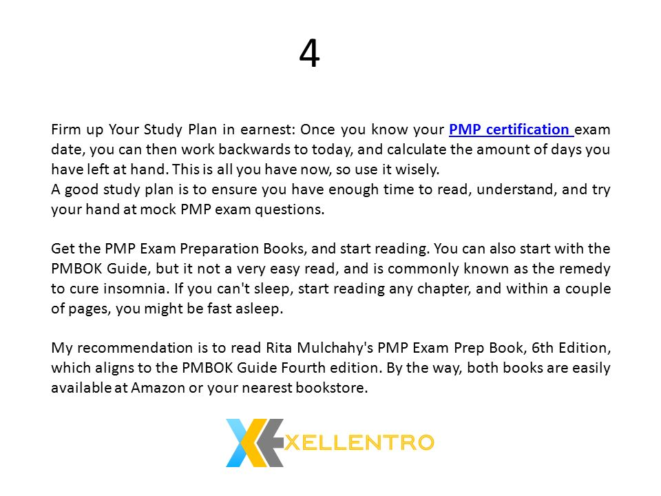 Top 5 Specific Preparation Plan For Pmp Exam One Good Study Plan
