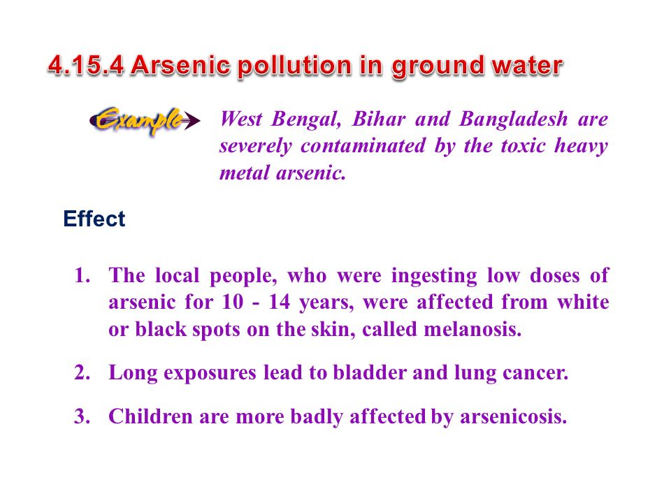 West Bengal, Bihar and Bangladesh are severely contaminated by the toxic heavy metal arsenic.
