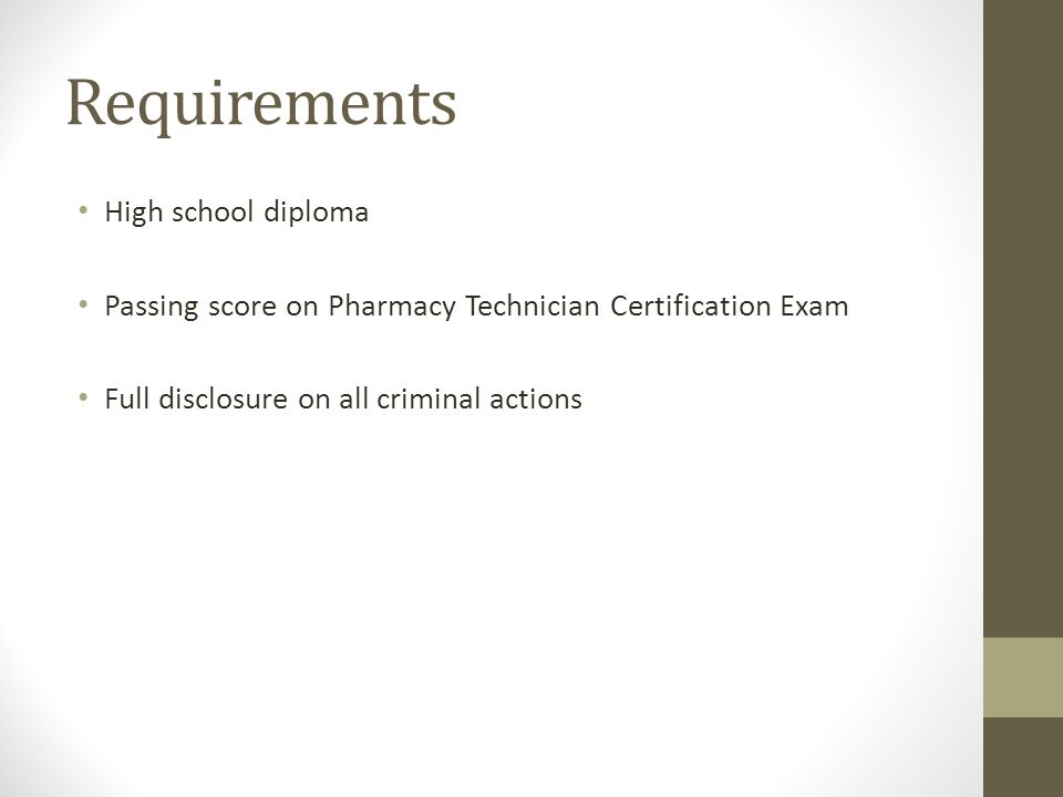 Pharmacy Technician Certification Why Certify Pharmacy Experience