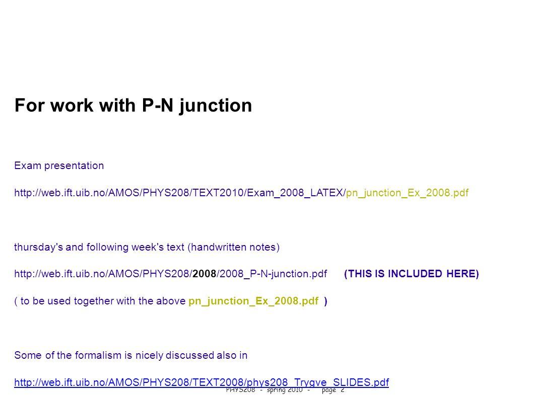 Pn Junction Pdf