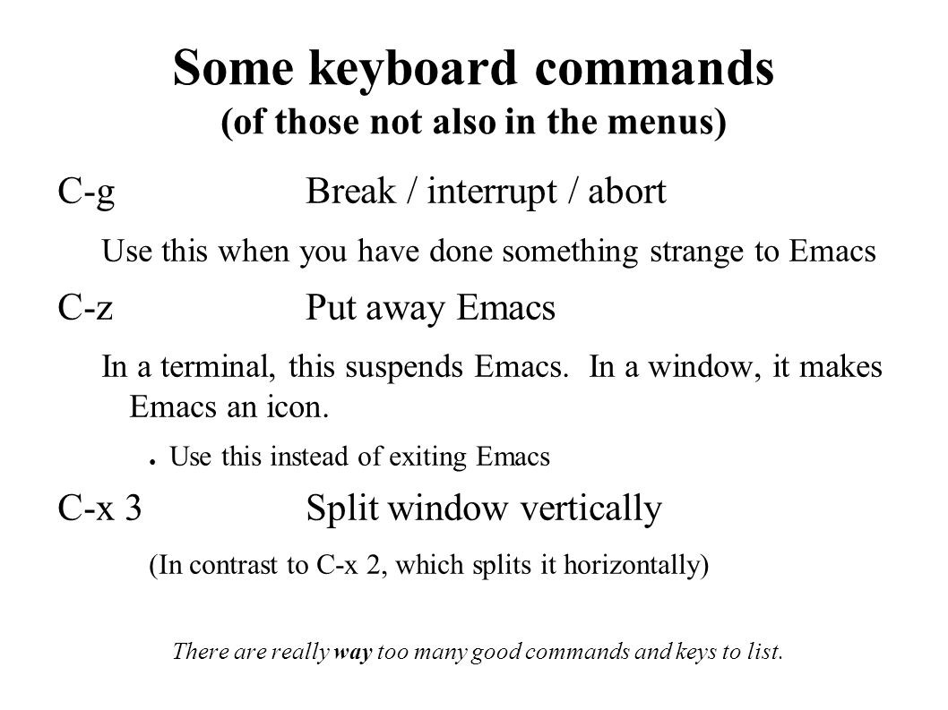 Emacs Living with text FUKT Computer Society Teddy Hogeborn