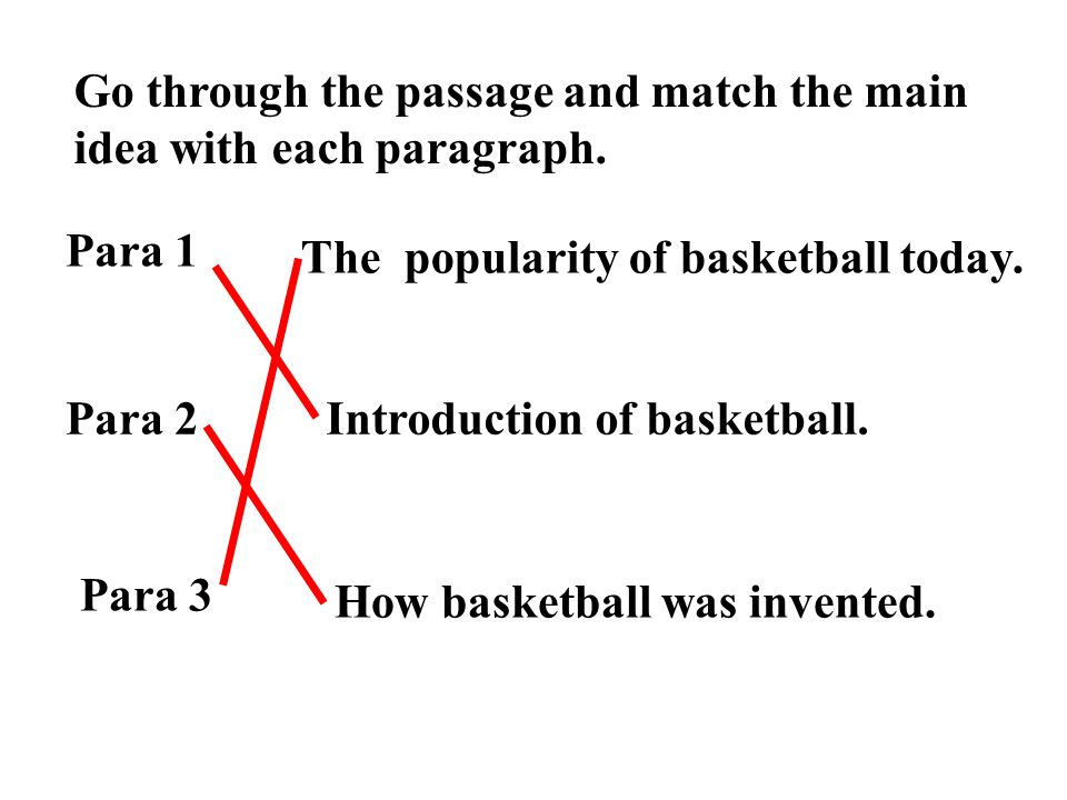 Go Through The Passage And Match Main Idea With Each Paragraph