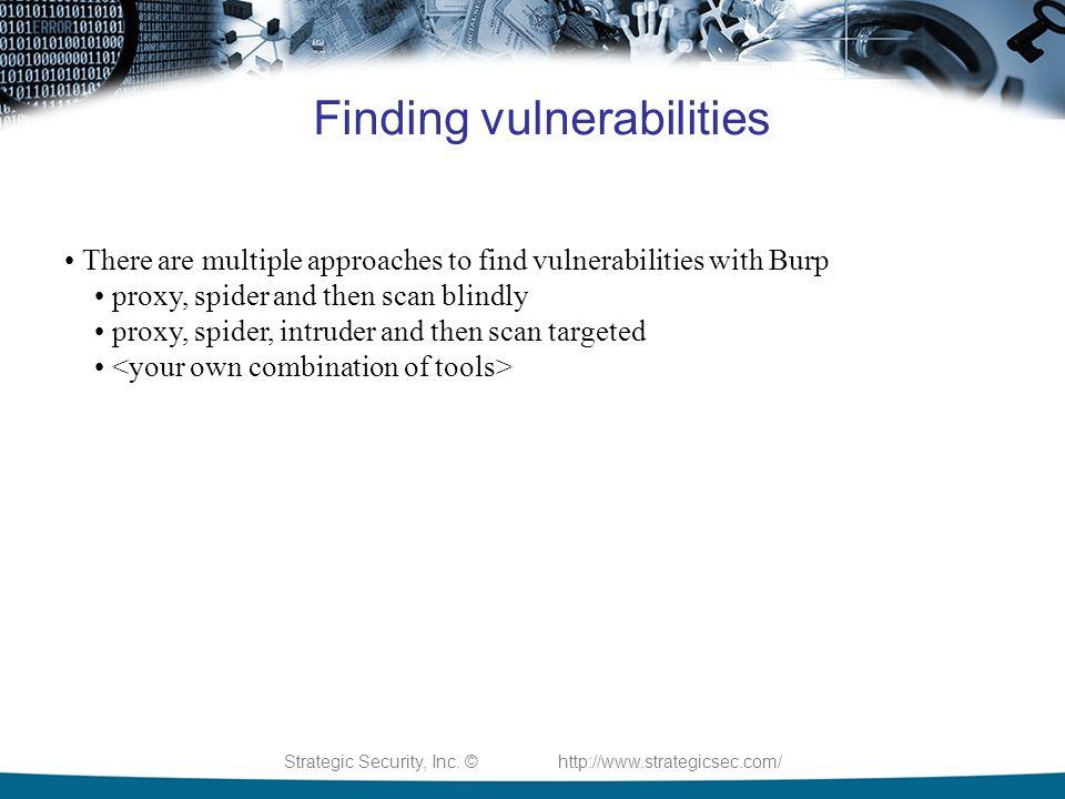 Strategic Security, Inc  © Burp Suite Presented By: Joe