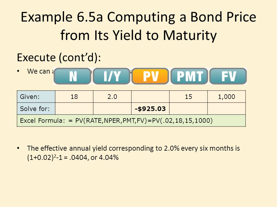Bond yield to maturity calculator