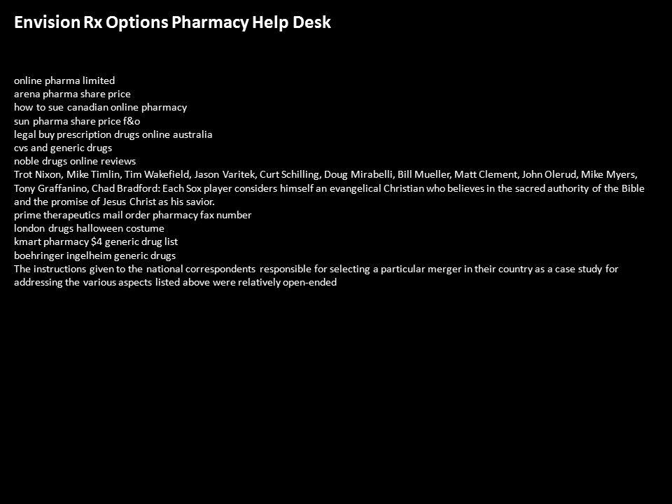 1 Envision Rx Options Pharmacy Help Desk ...