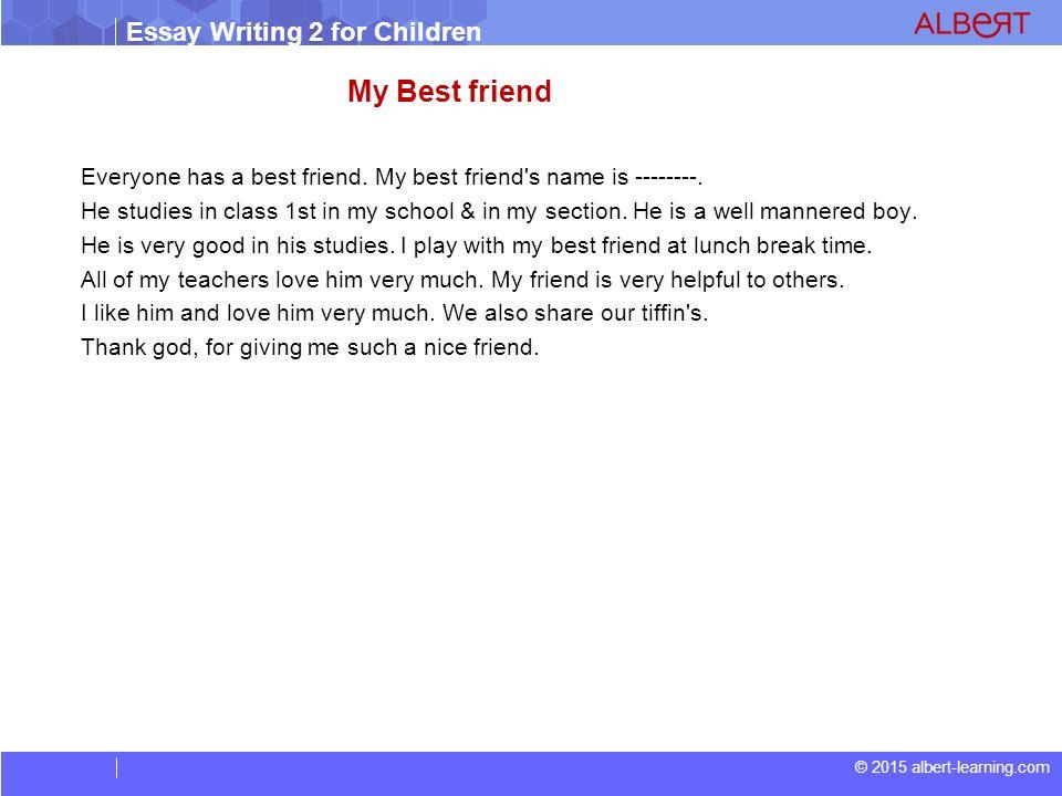 essays for kids my best friend   essay on my best friend for kids  essays for kids my best friend