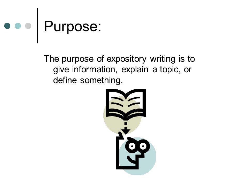 purpose of expository
